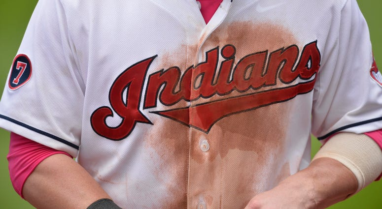 May 10, 2015; Cleveland, OH, USA; A general view of Cleveland Indians second baseman Jason Kipnis (22) jersey after defeating the Minnesota Twins 8-2 at Progressive Field.