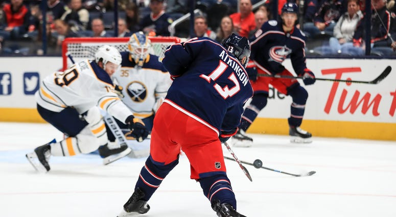 Blue Jackets right wing Cam Atkinson