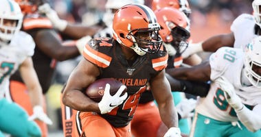 Browns running back Nick Chubb