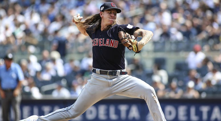 Indians starting pitcher Mike Clevinger