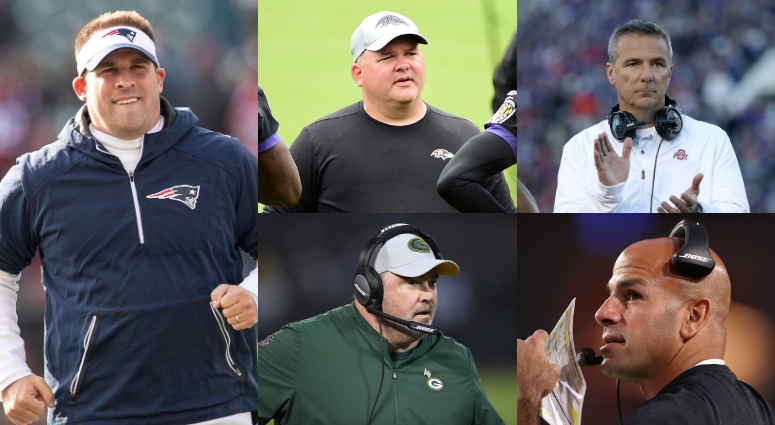 Josh McDaniels, Greg Roman, Urban Meyer, Mike McCarthy, Robert Saleh