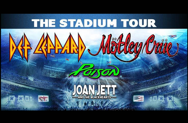 On Friday, July 3, FirstEnergy Stadium will host The Stadium Tour featuring Def Leppard and Motley Crue with Poison and Joan Jett & The Blackhearts.