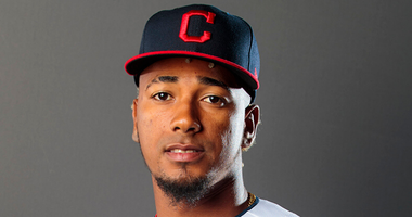 Feb 19, 2020; Goodyear, Arizona, USA; Cleveland Indians pitcher Emmanuel Clase poses for a portrait during media day at the Indians training facility. Mandatory Credit: Mark J. Rebilas-USA TODAY Sports