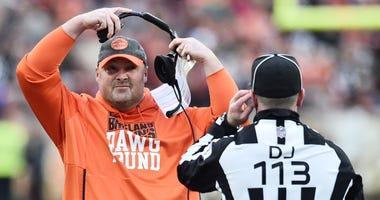 Browns head coach Freddie Kitchens
