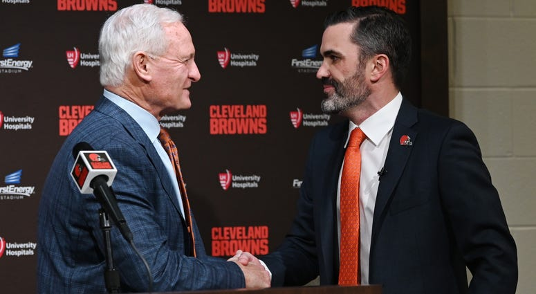 Browns owner Jimmy Haslam and head coach Kevin Stefanski