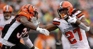 Browns running back Kareem Hunt