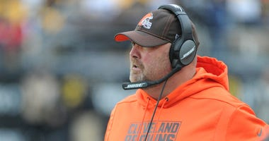 Browns head coach Freddie Kitchens