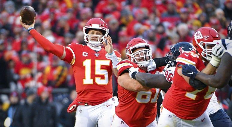 Chiefs quarterback Patrick Mahomes