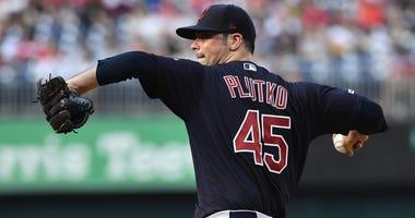 Indians pitcher Adam Plutko