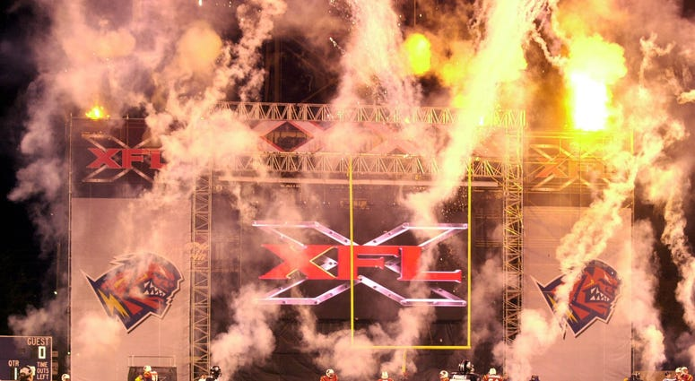 Fireworks explode announcing the start of the XFL season in Orlando, Fla. on Saturday, February 3, 2001. The XFL pro football league is returning in 2020 and will be focused on re-imaging the game of football. (Photo by John Raoux/Orlando Sentinel/TNS/Sip
