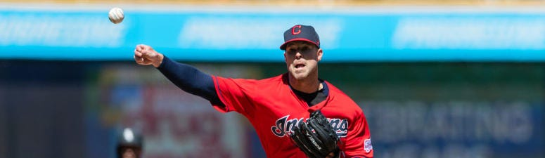 CLEVELAND, OH - APRIL 03: Starting pitcher Corey Kluber #28 of the Cleveland Indians pitches during the first inning against the Chicago White Sox at Progressive Field on April 3, 2019 in Cleveland, Ohio. (Photo by Jason Miller/Getty Images)