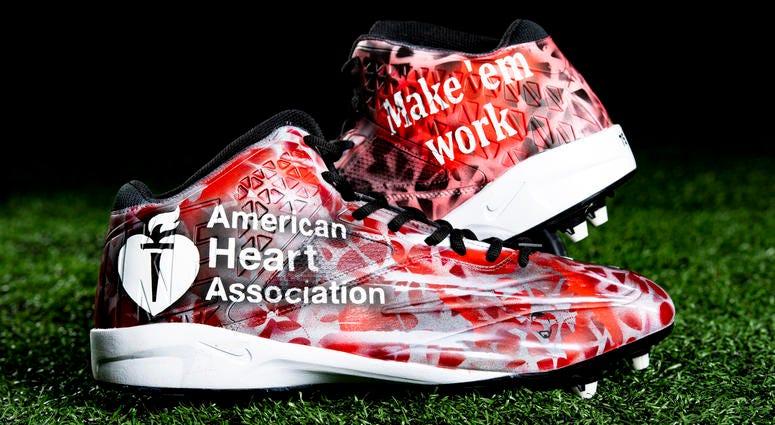 G Joel Bitonio American Heart Association cleats