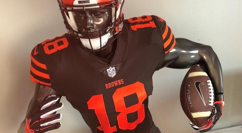 Nfl Color Rush Jerseys 2020.Cleveland Browns Wear Color Rush Uniforms Against New York