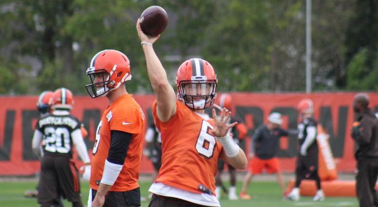 Cleveland Browns Baker Mayfield September 24, 2018 practice
