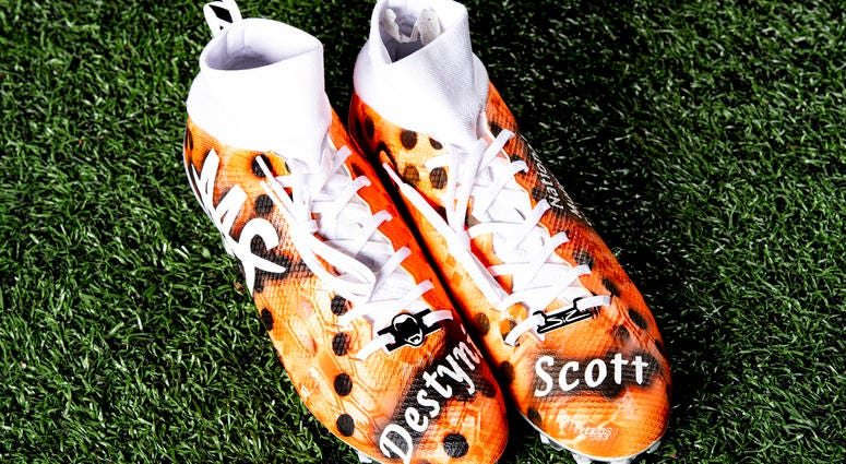 Sheldrick Redwine National Multiple Sclerosis Society  cleats