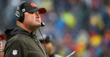 FOXBOROUGH, MA - OCTOBER 27: Head coach Freddie Kitchens of the Cleveland Browns looks on in the first half against the New England Patriots at Gillette Stadium on October 27, 2019 in Foxborough, Massachusetts. (Photo by Kathryn Riley/Getty Images)