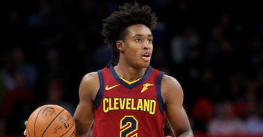 WASHINGTON, DC - NOVEMBER 08: Collin Sexton #2 of the Cleveland Cavaliers dribbles the ball against the Washington Wizards in the second half at Capital One Arena on November 08, 2019 in Washington, DC.