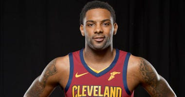 INDEPENDENCE, OHIO - SEPTEMBER 30: Sindarius Thornwell #3 of the Cleveland Cavaliers during Cleveland Cavaliers Media Day at Cleveland Clinic Courts on September 30, 2019 in Independence, Ohio.