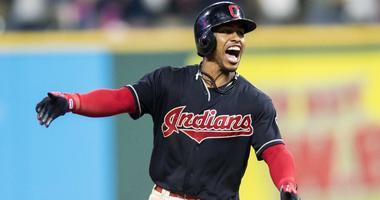 Cleveland Indians shortstop Francisco Lindor (12)
