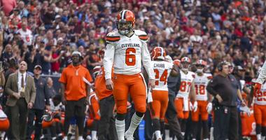 Cleveland Browns quarterback Baker Mayfield (6) takes the field during a change of possession during the fourth quarter against the Houston Texans at NRG Stadium.