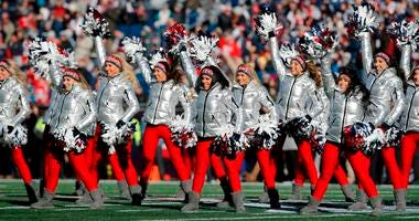 Dec 30, 2018; Foxborough, MA, USA; The New England Patriots cheerleaders perform before the start of the game against the New York Jets at Gillette Stadium. Mandatory Credit: David Butler II-USA TODAY Sports