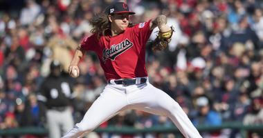 Apr 1, 2019; Cleveland, OH, USA; Cleveland Indians starting pitcher Mike Clevinger (52) throws a pitch during the first inning against the Chicago White Sox at Progressive Field. Mandatory Credit: Ken Blaze-USA TODAY Sports