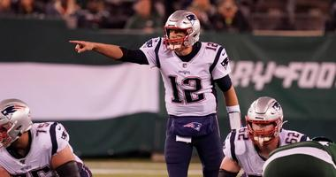 Oct 21, 2019; East Rutherford, NJ, USA; New England Patriots quarterback Tom Brady (12) in the second half at MetLife Stadium. Mandatory Credit: Robert Deutsch-USA TODAY Sports