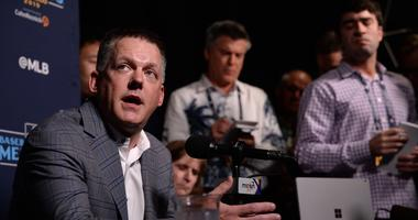 Dec 10, 2019; San Diego, CA, USA; Houston Astros manager A.J. Hinch speaks to the media during the MLB Winter Meetings at Manchester Grand Hyatt. Mandatory Credit: Orlando Ramirez-USA TODAY Sport