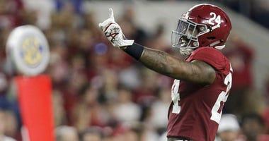 NFL draft prospect, former Alabama linebacker Terrell Lewis