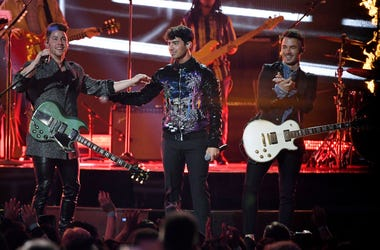 Nick Jonas, Joe Jonas and Kevin Jonas of Jonas Brothers perform during the 2019 Billboard Music Awards at MGM Grand Garden Arena on May 1, 2019 in Las Vegas, Nevada