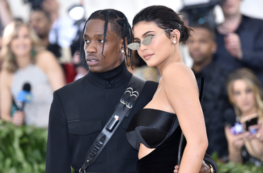 Travis Scott and Kylie Jenner walking the red carpet at The Metropolitan Museum of Art Costume Institute Benefit