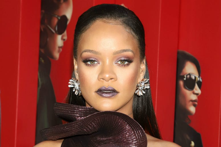 "Rihanna attends the premiere of ""Ocean's 8"" at Alice Tully Hall in New York."