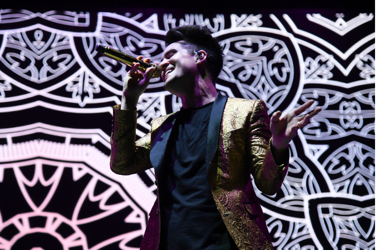Panic! at the Disco performs at the Riptide Music Festival held on Fort Lauderdale Beach