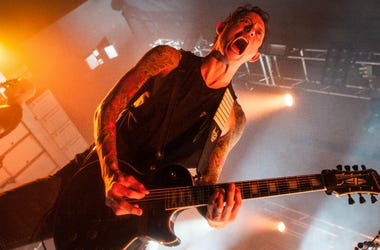 Matt Heafy of Trivium performs at O2 Academy on April 17, 2018 in Birmingham, England.