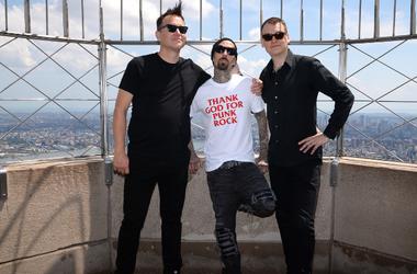 Blink-182 band members Mark Hoppus, Travis Barker and Matt Skiba