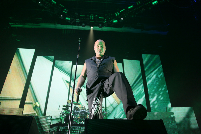 David Draiman of the band Disturbed performs