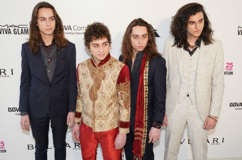 Greta Van Fleet Band on the red carpet at Elton John's 26th Annual AIDS Foundation