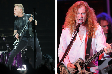 Metallica's James Hetfield and Megadeth's Dave Mustaine