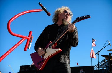 Musician Sammy Hagar and The Circle perform before the AAA Texas 500 at Texas Motor Speedway