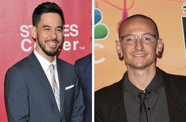 Mike Shinoda and Chester Bennington of Linkin Park