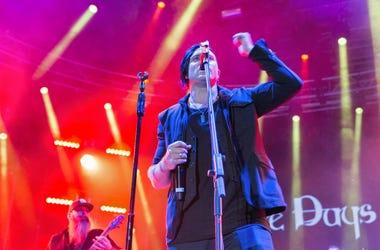 Three Days Grace performs at Atlas Weekend. Kiev, Ukraine.