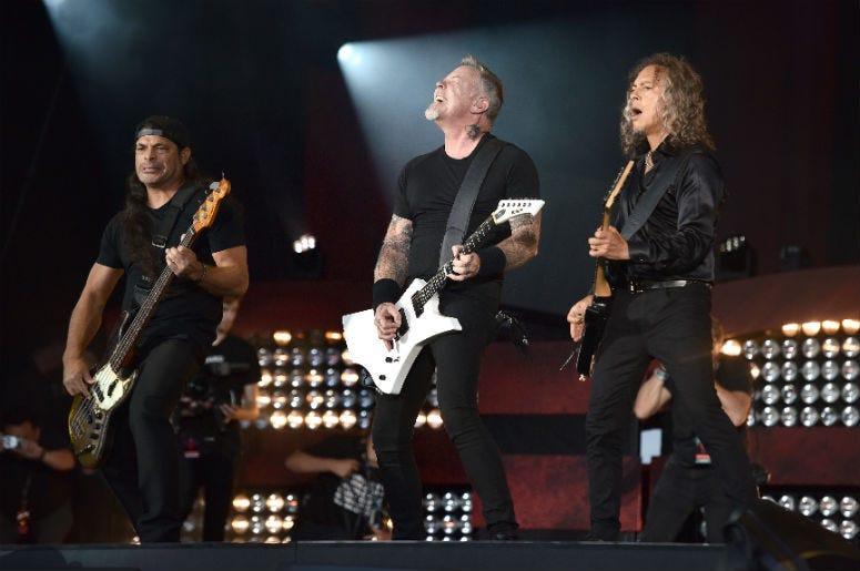Metallica perform onstage