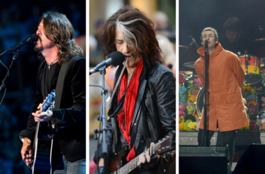 Dave Grohl of Foo Fighters, Liam Gallagher, Aerosmith's Joe Perry