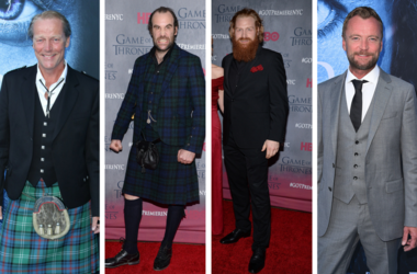 "Tormund (Kristofer Hivju), Sandor ""The Hound"" Clegane (Rory McCann), Ser Jorah (Iain Glen) and Beric (Richard Dormer) of Game of Thrones"
