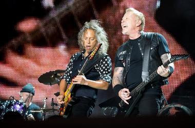 Metallica's James Hetfield and Kirk Hammett