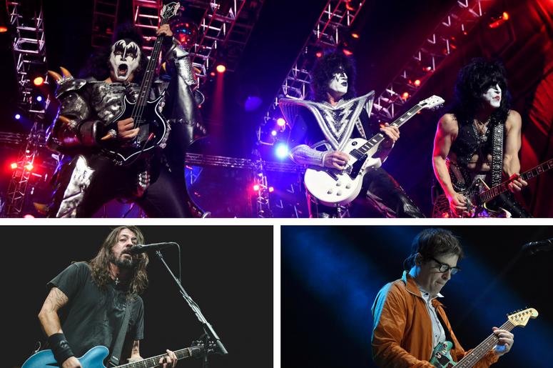 Kiss, Weezer, Foo Fighters