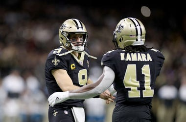 Drew Brees and Alvin Kamara