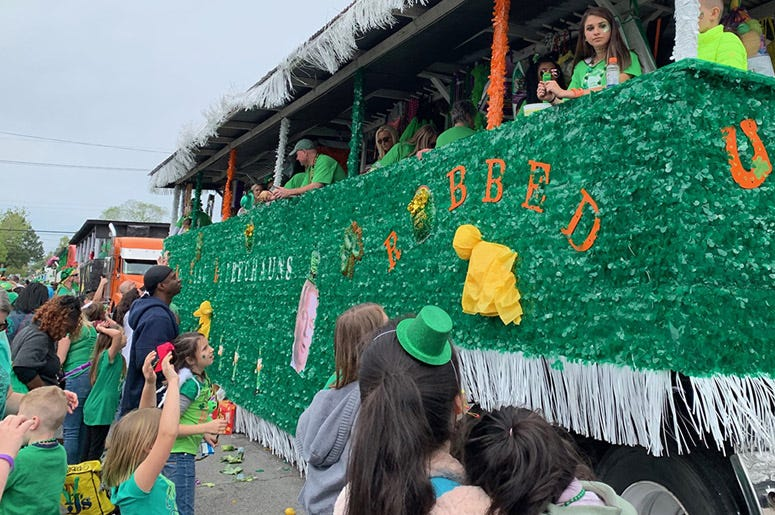 Metairie Road St Patrick's parade