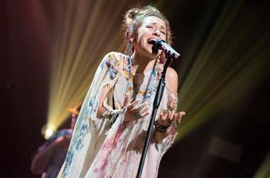 Lauren Daigle takes the stage for a passionate performance during the 2019 K-Love Fan Awards at Grand Ole Opry House in Nashville, Tenn., Sunday, June 2, 2019.