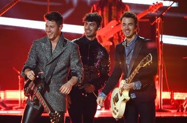 Nick Jonas, Joe Jonas and Kevin Jonas of Jonas Brothers perform during the 2019 Billboard Music Awards at MGM Grand Garden Arena on May 1, 2019 in Las Vegas, Nevada